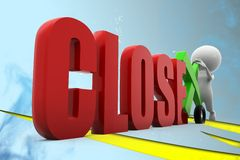 3d man close illustration Stock Photo