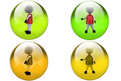 3d man cloth icon Stock Images