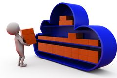 3d man cloud storage concept Stock Photo