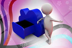 3d man clound storage  illustration Royalty Free Stock Image