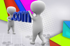 3d man .com  illustration Stock Image