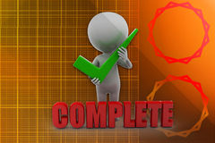 3d man complete illustration Royalty Free Stock Image