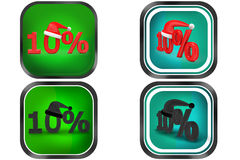 3d Man 10 % concept icon Royalty Free Stock Photography