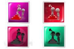 3d Man confuse speaker concept icon Stock Photography