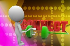 3d man connect illustration Royalty Free Stock Photos