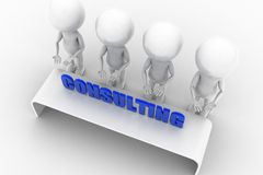 3d man consulting concept Stock Image