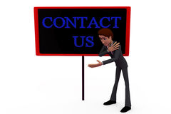 3d man contact us concept Royalty Free Stock Images
