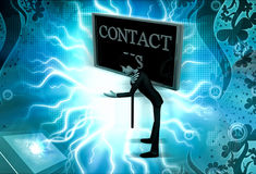 3d man contact us concept Royalty Free Stock Photos