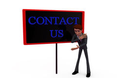 3d man contact us concept Stock Photo