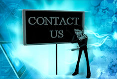3d man contact us concept Stock Image