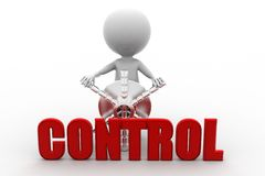 3d man control concept Stock Images