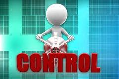 3d man control illustration Stock Images