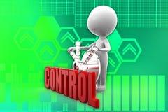 3d man control illustration Stock Photography