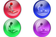 3d man control yourself icon Stock Photography