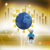 3d man counting earth hours Stock Images
