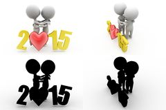 3d man couple concept collections with alpha and shadow channel Stock Photo