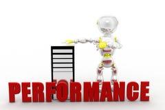 3d man cpu performance Royalty Free Stock Photos
