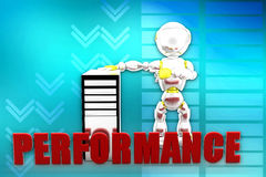 3d man cpu performance illustration Royalty Free Stock Image