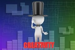 3d man creativity illustration Royalty Free Stock Photos