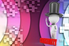 3d man creativity illustration Stock Photo