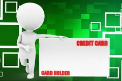 3d man credit card illustration Royalty Free Stock Photos
