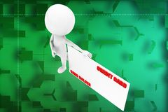 3d man credit card illustration Royalty Free Stock Image
