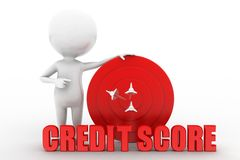 3d man credit score concept Stock Images