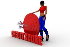 3d man credit score illustration Stock Image