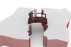 3d man cross bridge concept Stock Images