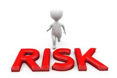 3d man crossing risk concept Stock Photo