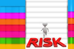 3d man crossing risk illustration Stock Photos