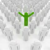 3d man crowd. Business organization Stock Photo