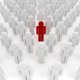 3d man crowd. Business organization vector illustration