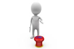 3d man CSR button concept Royalty Free Stock Photo