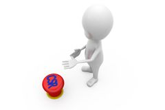 3d man CSR button concept Royalty Free Stock Images
