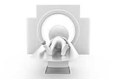 3d man ct scan concept Royalty Free Stock Image