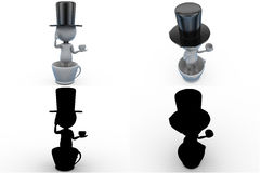 3d man in cup concept collections with alpha and shadow channel Stock Image