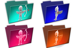 3d Man cupid cconcept icon Royalty Free Stock Images