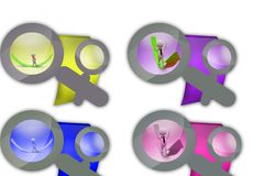 3d man curve arrow icon Stock Photos