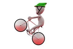 3d man cycle jump concept Royalty Free Stock Images