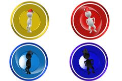 3D Man dance concept icon Royalty Free Stock Images