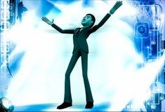3d man dancing illustration Royalty Free Stock Photos