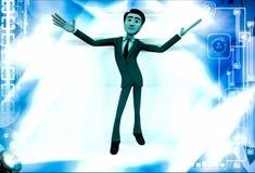 3d man dancing illustration Royalty Free Stock Image