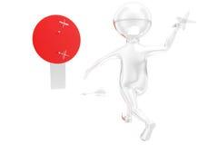 3d man dart concept Stock Image