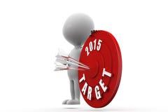 3d man dartboard 2015 concept Stock Photo