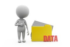 3d man data file concept Royalty Free Stock Image