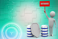 3d man with database illustration Royalty Free Stock Photography