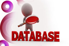 3d man database search illustration Stock Images