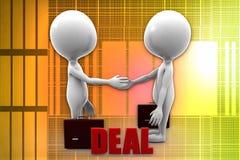 3d man deal illustration Stock Image