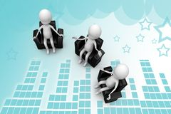 3d man debate illustration Stock Image